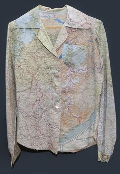 Blouse, Escape Map | National Air and Space Museum