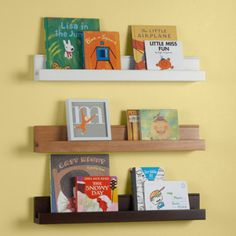 Kids Wall Racks: Kids Wooden Book Wall Ledge   White Book Ledge By The Land  Of Nod
