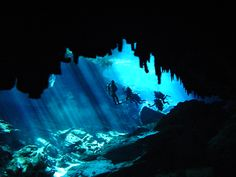 Cave diving. Go deeper! | Find your dream travel job: www.traveljobsearch.com/jobs