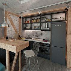 Галерея кухонь в стиле лофт, часть 1
