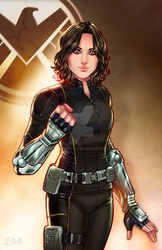 Here she is - Skye/Daisy/Quake. I can't wait for the Season 3 Premiere tonight!! Ihor did an amazing job on this piece as always!! Love how she turned out!! Lines/Inks by me Colors by Daisy Johnson...