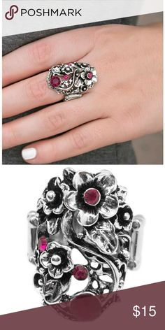 Pink roses ring One size. Stretch band. Jewelry Rings