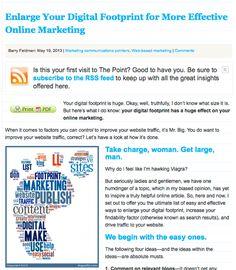 31 Must read social media articles from Social Media Examiner.  Sooo, Helpful. enlarge-your-digital-footprint