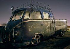 VW Crew Cab Pickup Rat Look by *Groovemaster*, via Flickr