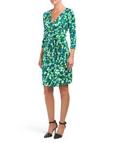 2609f0fcd $398 * DIANE VON FURSTENBERG Julian Silk Two Wrap Dress * Green Floral Sz 2