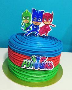 bolo pj masks - Pesquisa Google Pj Masks Birthday Cake, 4th Birthday Cakes, Fourth Birthday, Birthday Bash, 3rd Birthday Parties, Birthday Ideas, Pj Masks Cakes, Pj Masks Cake Topper, Pj Mask Cupcakes