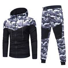 UUYUK Men Winter Fleece Lined Thermal Contrast Color Zip Front Hoodies Sweatshirt