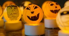 I was thumbing through my latest issue of Family Fun Magazine when I came across instructions for turning ping pong balls and battery power. Classroom Halloween Party, Fun Halloween Crafts, Halloween Party Games, Holidays Halloween, Halloween Kids, Halloween Projects, Family Fun Magazine, Crafts For Seniors, Senior Crafts