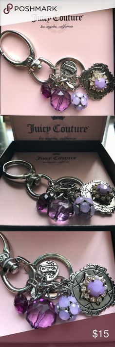 Juicy Couture Key Chain. Purple and silver Juicy Couture key chain. Juicy Couture Accessories Key & Card Holders