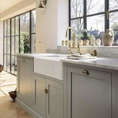 """883 Likes, 17 Comments - Kate Abt Design (@kateabtdesign) on Instagram: """"Classic British kitchen with a twist by @devolkitchens. Oh so much gorgeousness here -herringbone…"""""""