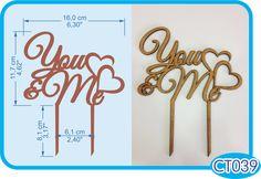 You & Me Cake Topper. -Pedidos/InquirIes to: crearcjs@gmail.com