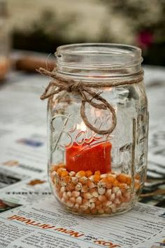 Simple Fall decorative craft **Know there's a bin of this at school somewhere..**