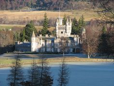 Balmoral Castle On Christmas Day, Scotland - The Queen's private residence.