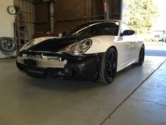 Porsche GT3 with the front bumper removed