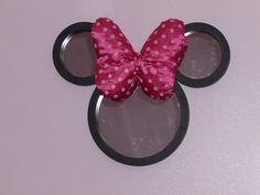 Minnie Mouse mirror made for my daughter's room