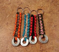 Paracord Keychain  Personalized Keychain  by BlackWolfDesigns21, $9.99