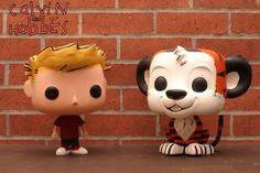 Funko POP Calvin and Hobbes (Original) Custom Miniature / Figurine