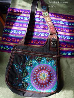 Om Mandala Bag Bohemian Gypsy Upcycled by Unseelienchantments