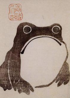 """""""frog"""" by matsumoto hoji. edo period. 1814"""