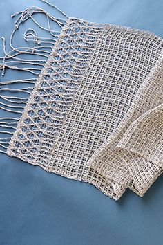 Amy Gunderson's Sparkle Windows scarf is woven in Universal Yarn Universe. Pattern at link.