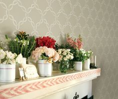 Madeleine wallpaper from the French General Wallcovering collection for Fabricut.