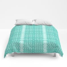 Gap Teal Lacy Wave COMFORTERS in 3 sizes designed by We~Ivy.They are cozy & lightweight. Designs are printed onto 100% microfiber polyester fabric for brilliant images and a soft, premium touch. Lined with fluffy polyfill and available in king, queen and full sizes. Machine washable with cold water gentle cycle and mild detergent. Follow We~Ivy's Art BootH for more special #art #gift ideas for #holiday seasons or # birthday #party, to find great #home decors or stuff just to spoil yourself. To Spoil, Face Towel, My Themes, King Queen, Hand Towels, Ivy, Comforters, Duvet