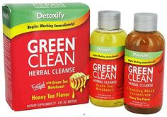 10 Pack  Detoxify Herbal Cleanse Honey Tea Flavor Box of 2x 4 Fl Oz Bottle with Free Im Baked Bro and Doob Tubes Sticker >>> See this great product.