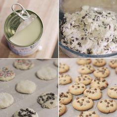 Assorted Condensed Milk Cookies by raspberri cupcakes Greek Desserts, Cookie Desserts, Easy Desserts, Cookie Recipes, Delicious Desserts, Dessert Recipes, Condensed Milk Cookies, Healthy Cookies, Easy Cooking
