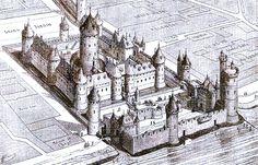 Le Louvre en 1350