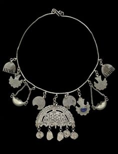 Woman or child''s protective amulet necklace from the Kurdish people of Süleimaniye