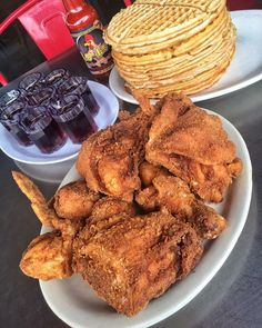 for more popping pins add I Love Food, Good Food, Yummy Food, Tasty, Yummy Yummy, Delish, Fried Chicken And Waffles, Best Breakfast Recipes, Breakfast Time