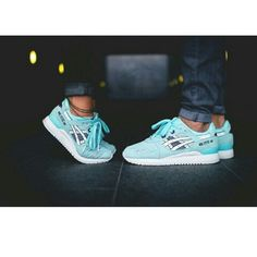 3bdd24329 Asic Gel Lyte III Asic Gel Lyte III in Snowflake. My cover photos are  saturated the shoes are not that blue in person more like a baby blue.