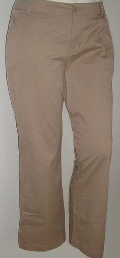 dfc072ea56b62 NEW  59 TAG Lane Bryant Stretch Khaki Tan TROUSER Pant 16s 26 28 28t XL 3X