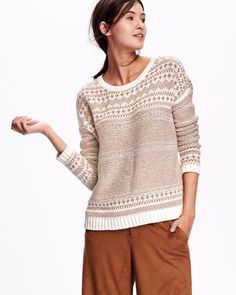 bfbc3967660983 Graphic Sweaters, Brown Sweater, Long Sleeve Sweater, Maternity Wear, Old  Navy,