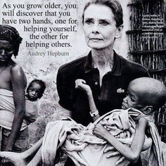 audrey hepburn - I love her, not only is she an icon but she was a truly good person also.