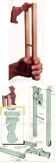 Acrobatic Bear Folk Toy Plans - Wooden Toy Plans and Projects | WoodArchivist.com