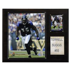 c387d55d6 NFL 12 x 15 in. Terrell Suggs Baltimore Ravens Player Plaque