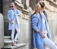 Choies Coat, Gido Ankle Boots, Stradivarius Ripped Jeans, Parfois Watch, Zara Mesh Top