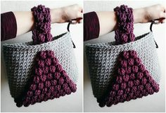 Let's learn to crochet bobble handbag [Tote]. This handbag combines several most popular crochet techniques including my favorite bobble stitch and as you can see, it looks simply gorgeous. The result is an alluring project that is enjoyable to crochet and practical for using...