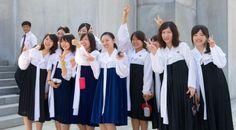 Women school uniforms still retain their traditional outfits in: Pyongyang, North Korea Vientiane, Laos Hanoi, Vietnam Cute School Uniforms, Asian History, Traditional Outfits, Itunes, Laos, Super Cute, 2000s, Women, Fashion