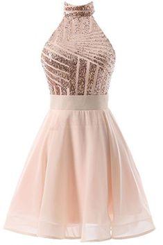 Halter Homecoming Dresses,Sequins Prom Dresses,Backless Homecoming Dress,Mini Homecoming