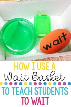 My Wait Basket is one of my favorite tools in my Autism Classroom. This classroom idea helped me keep students hands busy while I tend to other classroom issues that arise throughout the day. Autism Teaching, Autism Activities, Autism Resources, Autism Classroom, Special Education Classroom, Student Teaching, Classroom Ideas, Free Education, Sorting Activities