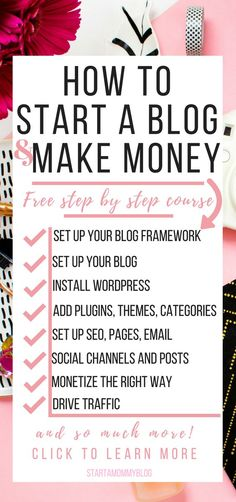 Learn how to start a blog and make money the right way in 8 easy to follow steps! Start a blog| how to start a blog| How to start a blog and make money| make money blogging| Start a blog step by step
