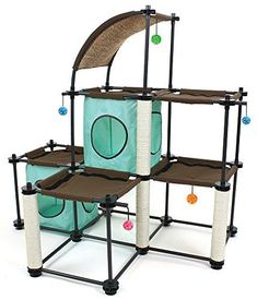 Kitty City Steel Claw Mega Kit Cat Furniture, Cat Condo Duplex with Toy -- To view further for this item, visit the image link. (This is an affiliate link) Cat Tree Condo, Cat Condo, Kitsch, Furniture Scratches, Cat Activity, Cat Perch, Cat City, Condo Furniture, Luxury Furniture