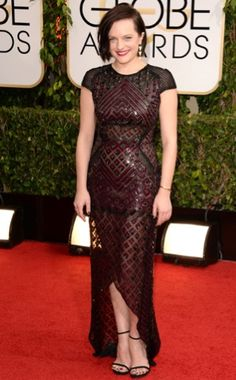 Most Edgy Made in New York look goes to Elisabeth Moss in J.Mendel
