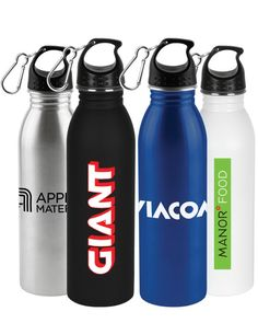 A 24 oz. matte finish stainless steel water bottle with threaded lid. Printed Water Bottles, Bulk Water Bottles, Custom Water Bottles, Make Your Logo, Marketing Budget, Advertising Slogans, Promotional Events, Stay Hydrated, Just Run