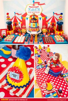 CIRCUS Birthday Party Printable Set by SweetScarletDesigns, $24.50
