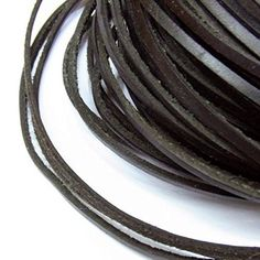 TheTasteJewelry 2x3mm Genuine Black Natural Leather Cord Rope Jewelry Making Finishings 5m String