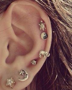 Multiple ear piercings <3