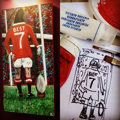"From the idea into the reality! :-) ""Playing with the best""  #georgebest #georgebest7 #artwork #rugbyplayer #footballplayer #manchester #manchesterunited #legend #red #reddevils #franztrg #mylife #gift #art #acrilico #stadium #supporters #kick #best #fucktheprogram #handpainting #artwork #grass #schetch"